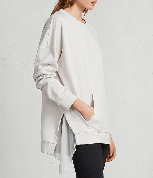 Womens Eva Crew Sweatshirt (IVORY WHITE) - Image 1