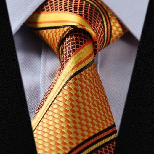 Hodvábna kravatová sada - kravata a vreckovka - vzor 27