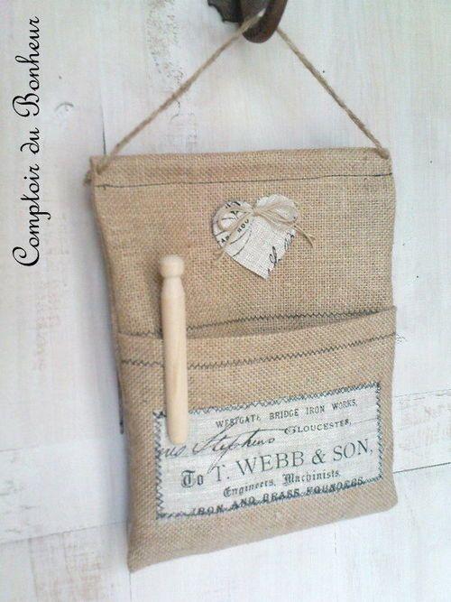 Pretty peg bag lovely laundry rooms pinterest french for Linge shabby chic