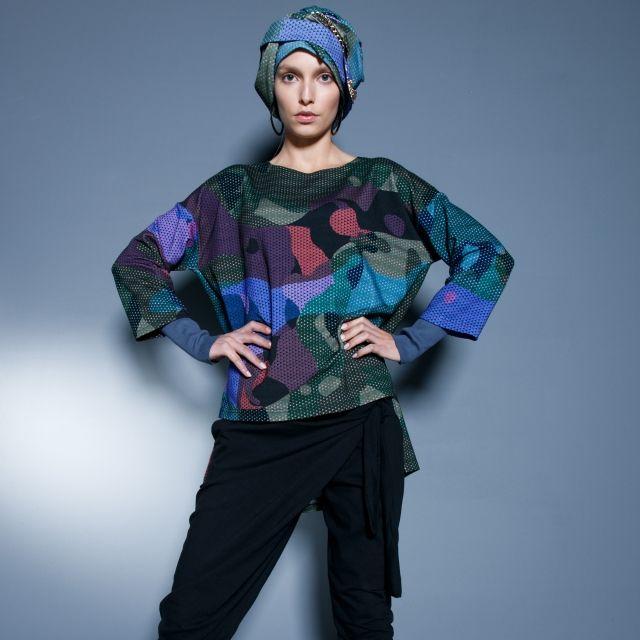 BLUZKA CAMO - kolorowe, designerskie