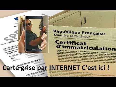 CARTE GRISE GRATUITE - NOUVELLE PROCÉDURE CERTIFICAT IMMATRICULATION PAR...