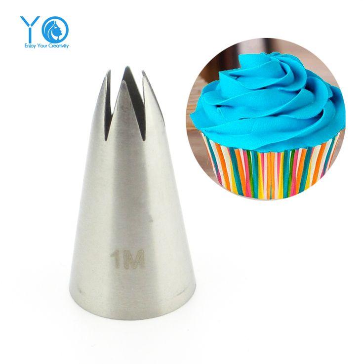 #2110 #1 M כתיבת Nozzle עוגת קישוט טיפים נירוסטה צינור נחיר הדובדבן אפיית אפייה וקונדיטוריה לעוגות