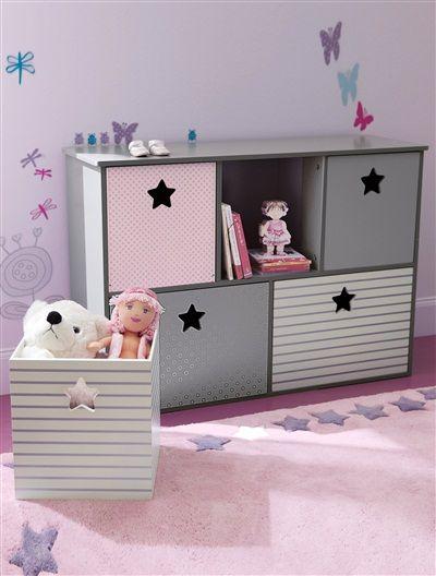 Les 25 meilleures id es concernant chambres de filles - Etagere avec bac rangement pour jouet ...