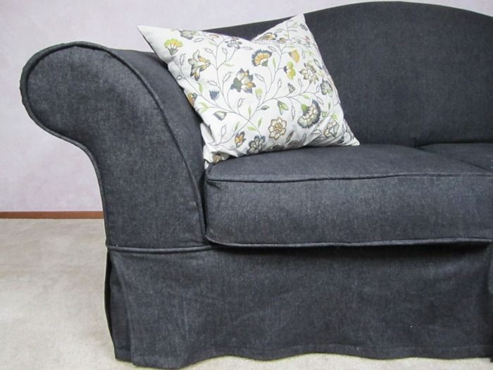 Denim Couch Slipcover Couch Slipcovers Pinterest Dark Denim Denim Couch And Chic
