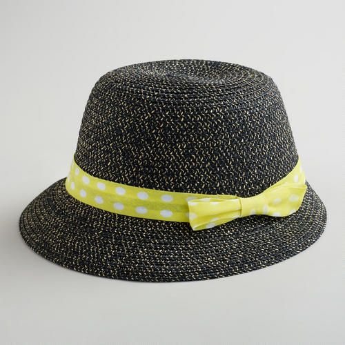 Black Bucket Hat with Yellow Dotted Bow at Cost Plus World Market >> #WorldMarket Mother's Day