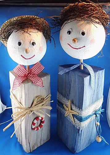 Lustige Holzscheitfiguren www.bastelversand.de