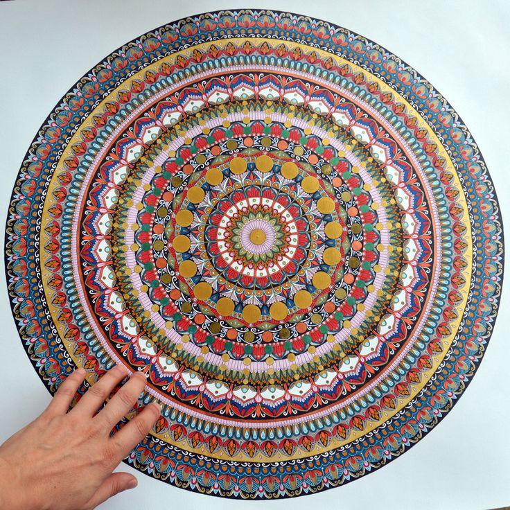 Mandala. Opera originale . Arte da parete . FREE Shipping. Decorazione . Meditazione . Arte contemporanea . di merveilleuseboutique su Etsy https://www.etsy.com/it/listing/493518903/mandala-opera-originale-arte-da-parete