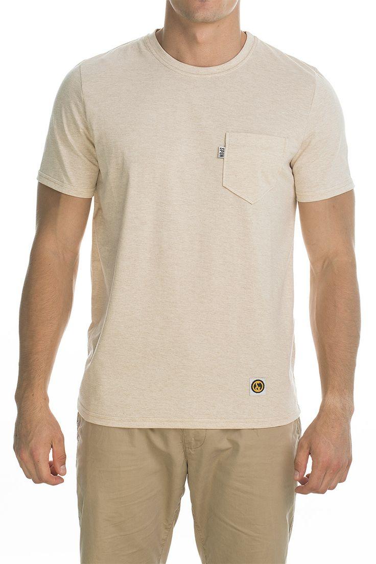 T-shirt Pocket clean; beige.