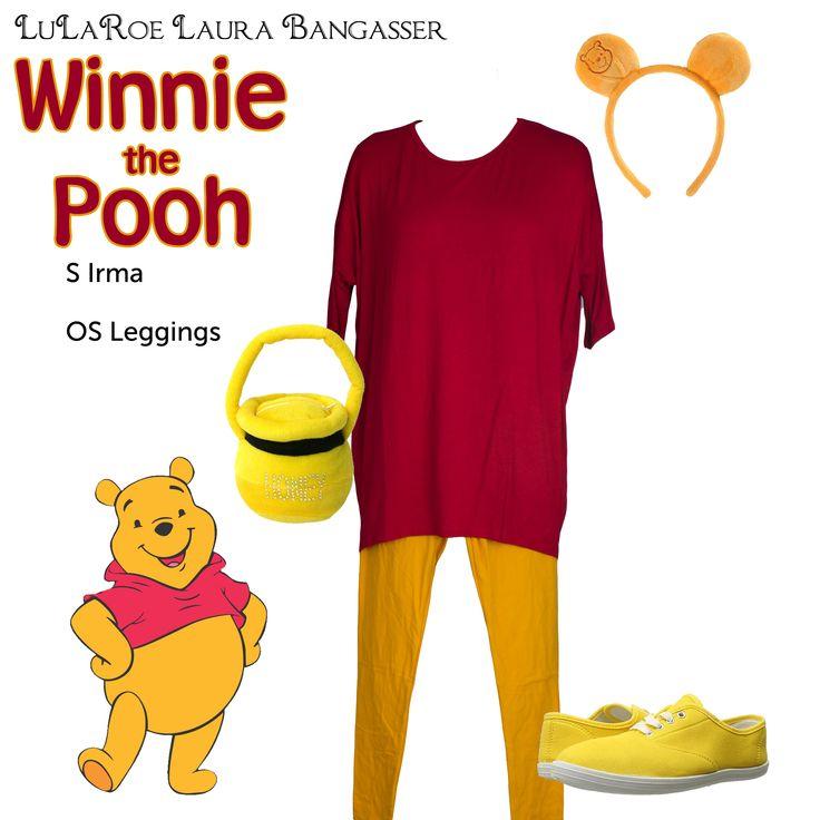 """LuLaRoe DisneyBounding Pooh Bear"" Winnie the Pooh inspired Halloween costume by LuLaRoeLauraBangasser. All non LuLaRoe accessories were found on Amazon."