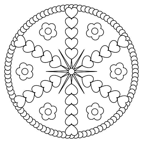 Free Printable Mandala Coloring Pages M 229 Larbok F 246 R Vuxna