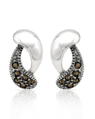Sterling Silver  Earrings Marcasites