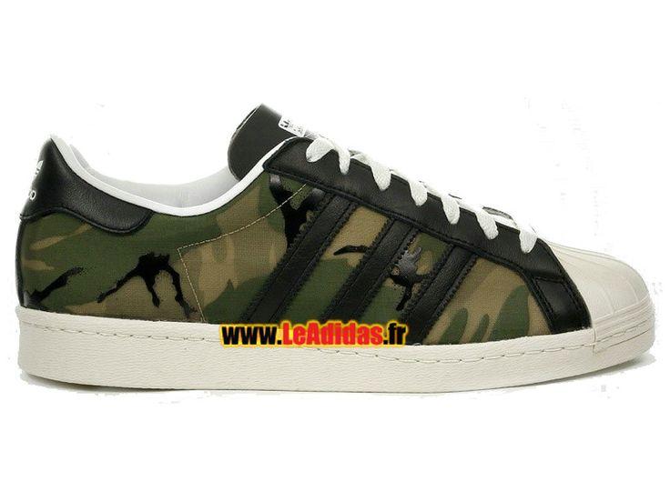 Adidas Originals Superstar - Chaussure Adidas Sportswear Pas Cher Pour Homme/Femme Vert/Beige B26093