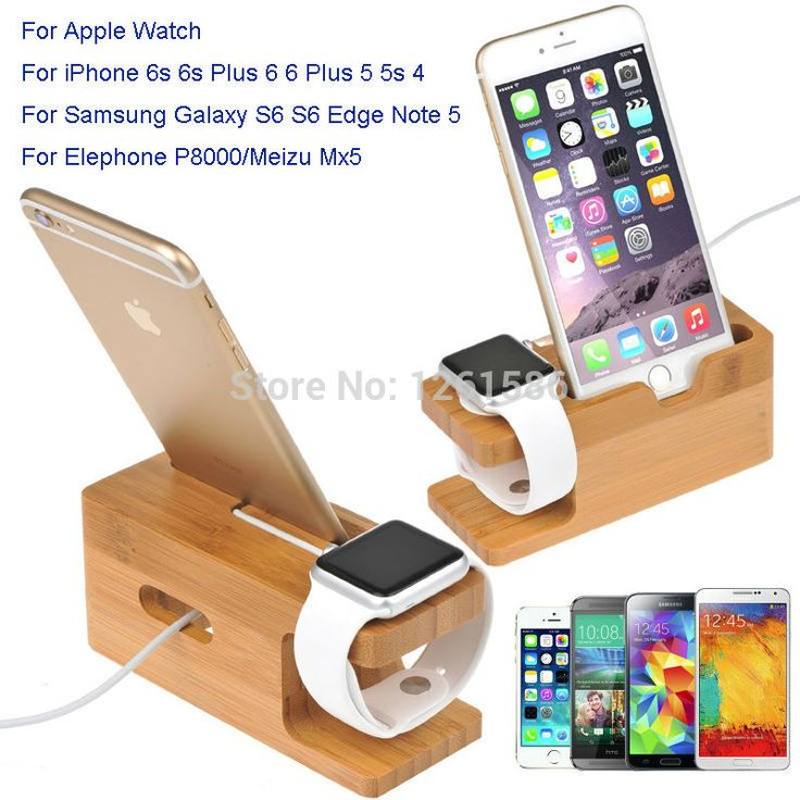 Для Всех Apple Watch 38/42 ММ/Для iPhone 6 S/A8 A5 A3 J7 Для Huawei Часы РОСКОШНЫЕ Стенд Деревянный Бамбука…