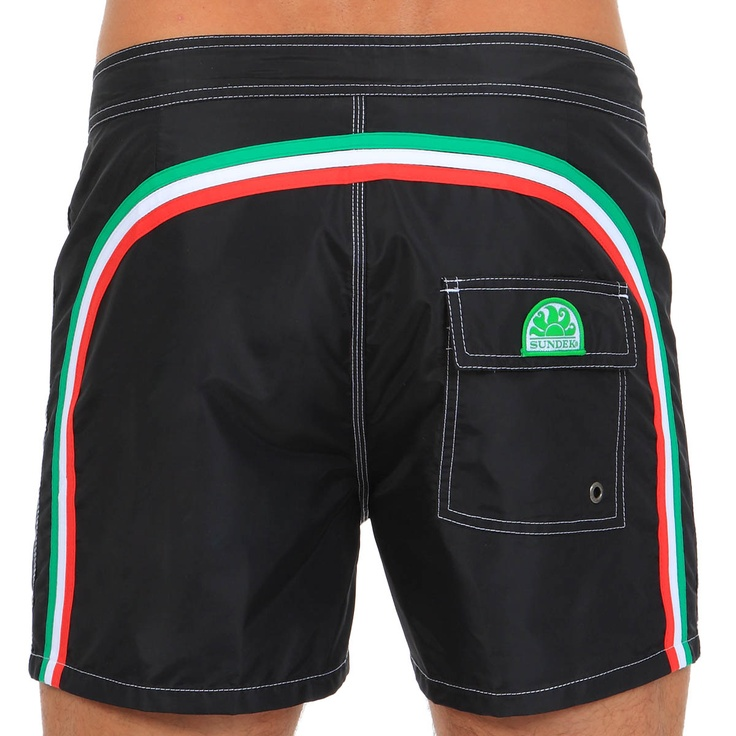 MID-LENGHT SWIM SHORTS WITH RAINBOW BANDS (M502BDTA100-118) | Man Sundek