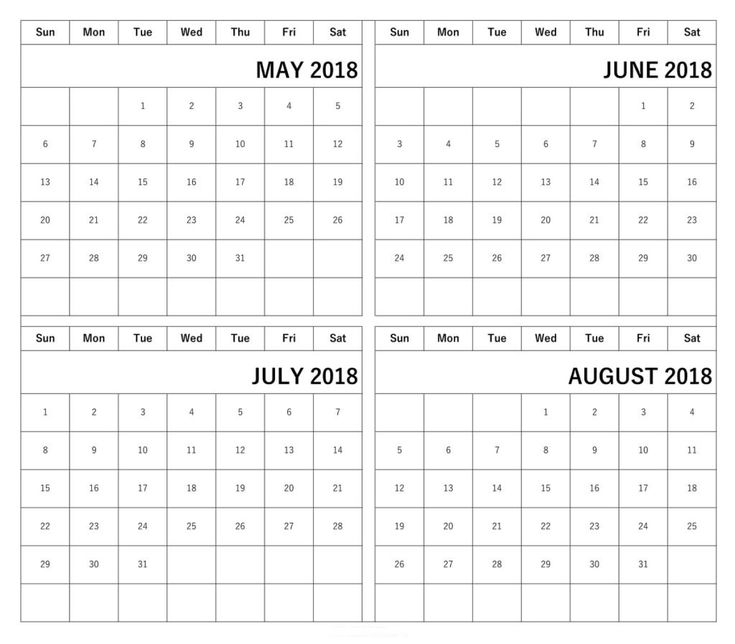 All about June July And August 2018 Calendar June 2018 Calendar