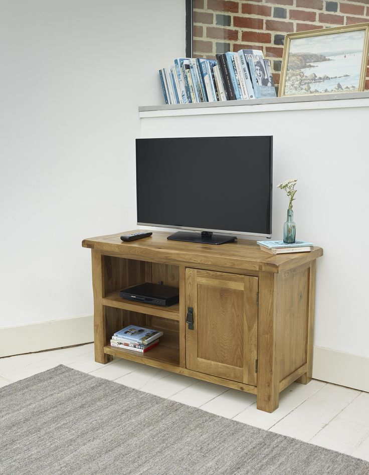 The Original Rustic Solid Oak TV Stand combines the traditional charm of solid oak with modern styling designed to accommodate the latest technology.