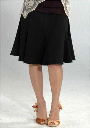 Women's Lauren Kiyomi Twill Godet Skirt (Maternity) - More Colors Available, M, Black Lauren Kiyomi. $84.00