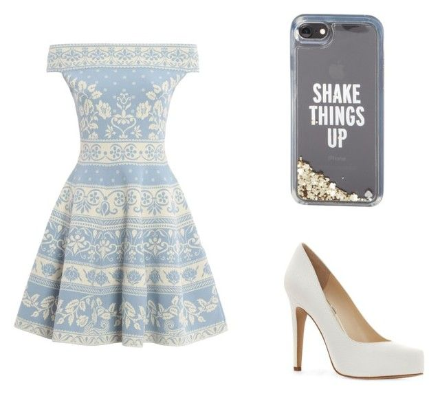 """Blue and white picnic"" by tessa-hewitt on Polyvore featuring Alexander McQueen, Jessica Simpson and Kate Spade"