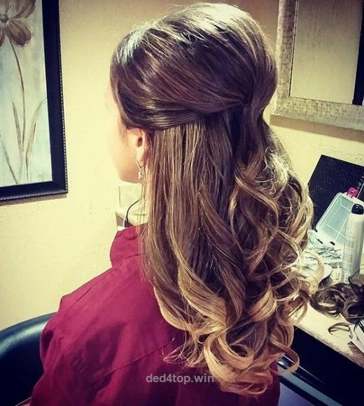 mid long hair styles best 25 wedding half updo ideas on bridal 6593 | 29914702ff64319bf65e6593f797d125