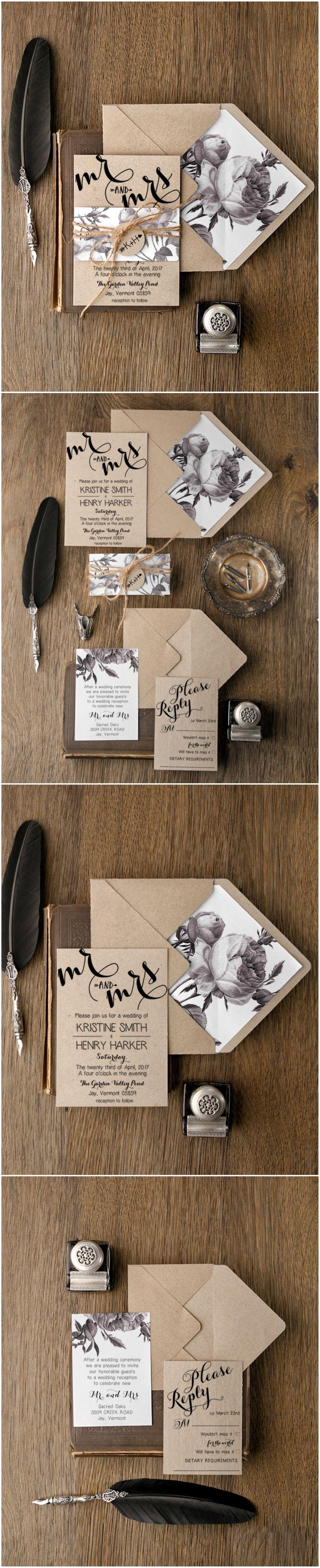 WEDDING INVITATIONS botanical 1681 best Wedding invitations