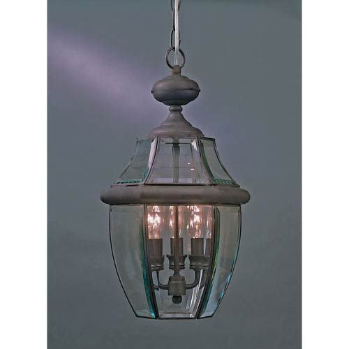 Newbury Bronze Outdoor Lantern Pendant Quoizel Outdoor Pendants Outdoor Hanging Medici Bronze Finish 26.5 Inches High 16 Inches Wide 4 - 60 Watt Candelabra Bulbs Exterior Wet Rated ETL Listed