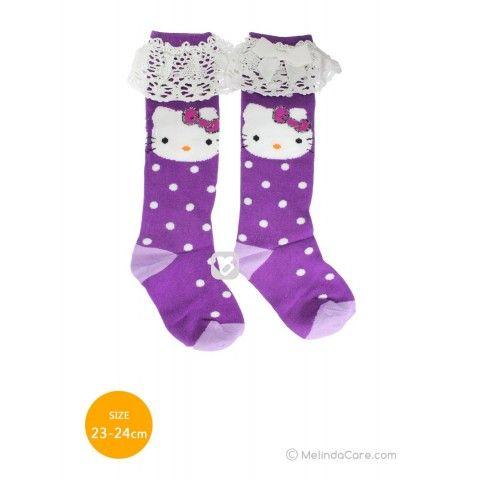 Kaos Kaki Anak Hello Kitty Socks (Ungu Polkadot Putih, Ungu Muda) Rp. 27.500  kunjungi: www.melindacare.com hubungi: 081321148408 atau add 765BEE5E