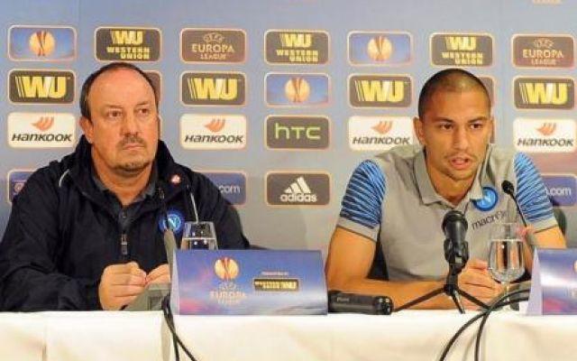 Benitez e Inler in conferenza stampa prima della sfida con lo Young Boys. Ecco le loro parole #napoli #europaleague #europa #convocati