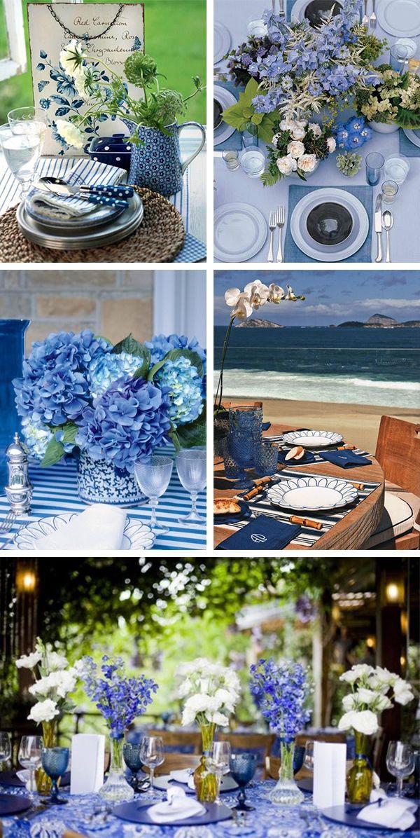 Pensando em montar uma mesa posta azul? Confira no blog dicas e inspirações de três estilos de décor com essa cor e arrase na combinação!