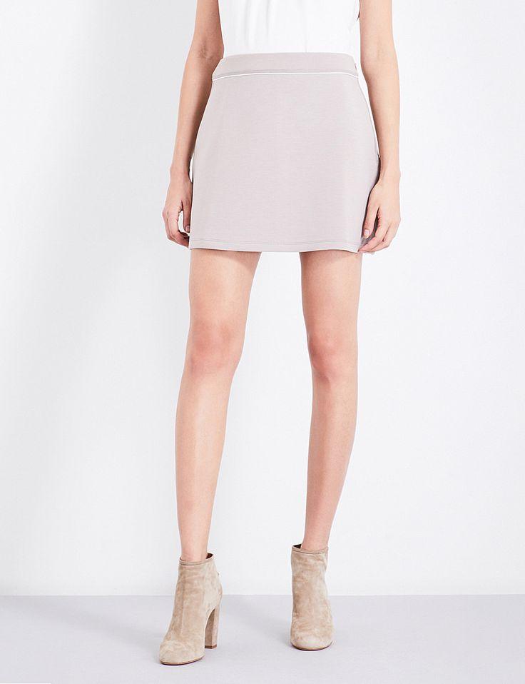 REISS Greta jersey mini skirt