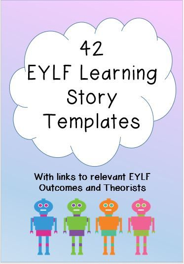 This set of 42 EYLF Learning Story Templates is beautifully designed and contain spaces for stories, learning analysis and photos. It also has relevant EYLF Outcome and Theorist links