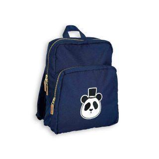 Pepe und Nika Mini Rodini schwedische Kindermode Blauer Rucksack für Schule und Freizeit mit Panda bag für Jungen und Mädchen
