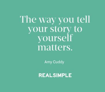 Inspiring words from Amy Cuddy.