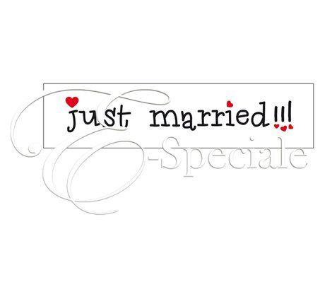 Targa Just Married - Prodotti per Promessa di Matrimonio - Addobbi Cerimonia - Insegne e Festoni - accessori e gadget per matrimoni e feste - E-speciale