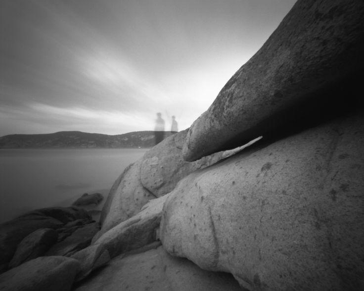 Philpots ghost, Erith Island. Silver gelatin photographs from 4x5 pinhole camera negative.