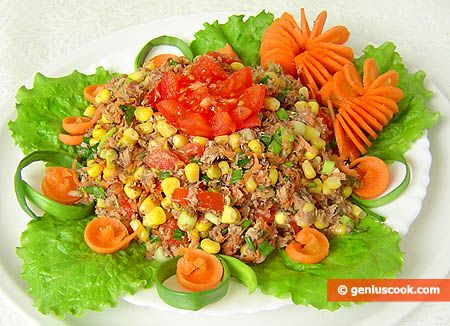 Tuna, Tomato and Carrot Salad