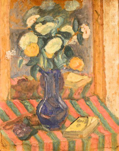 Theodor Pallady - Flori în vas albastru