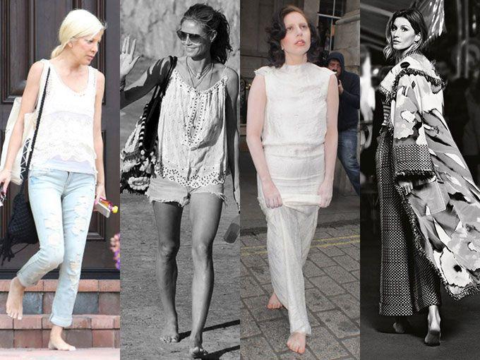 ¿Sabías de la nueva y extraña moda de los famosos? El barefoot, sí, andar descalzos en la calle. Algunas de las celebridades que se sumaron a esta inusual tendencia son Hilary Duff, Lady Gaga y Chris Hemsworth.