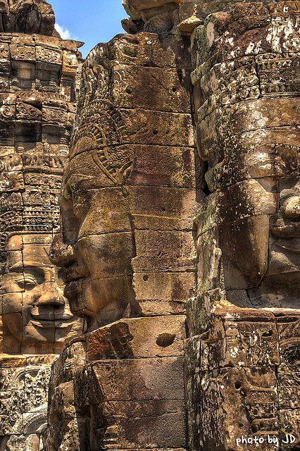 Bayon, Angkor Thom, Cambodia (HDR)   Flickr - Photo Sharing!