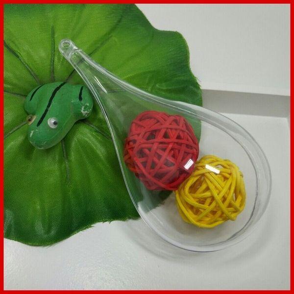 Прозрачная пластиковая коробка шоколада роняет мяч увековечены FlowerBox место проведения украшения коробки конфеты