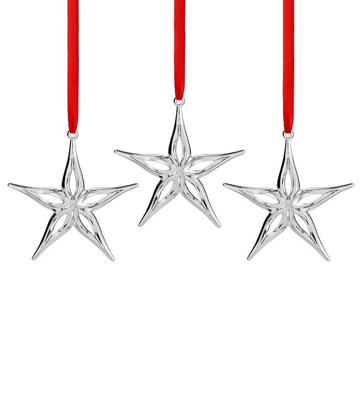 Nambé Holiday Mini Star Ornaments, Set of 3 | Star ornament