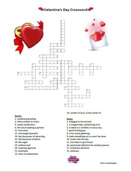 valentine 39 s day crossword puzzle. Black Bedroom Furniture Sets. Home Design Ideas