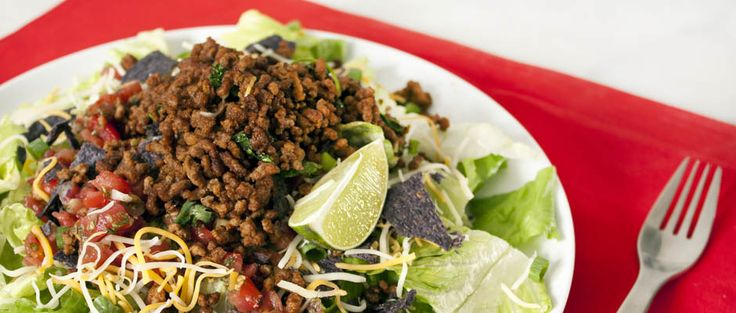 Ready in 10 minutes flat, this easy Mexican-inspired taco salad will become your family's favorite home-cooked meal. Get the recipe here.