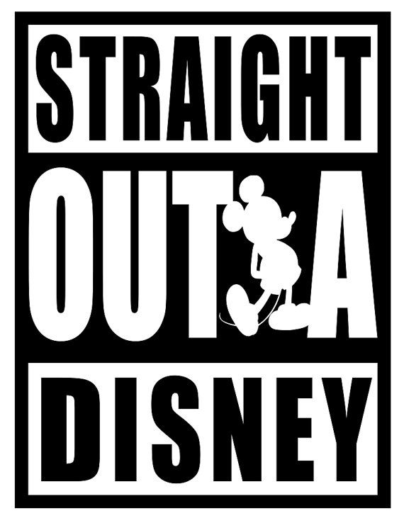 Straight Out A Disney svg file | Silhouettes | Disney