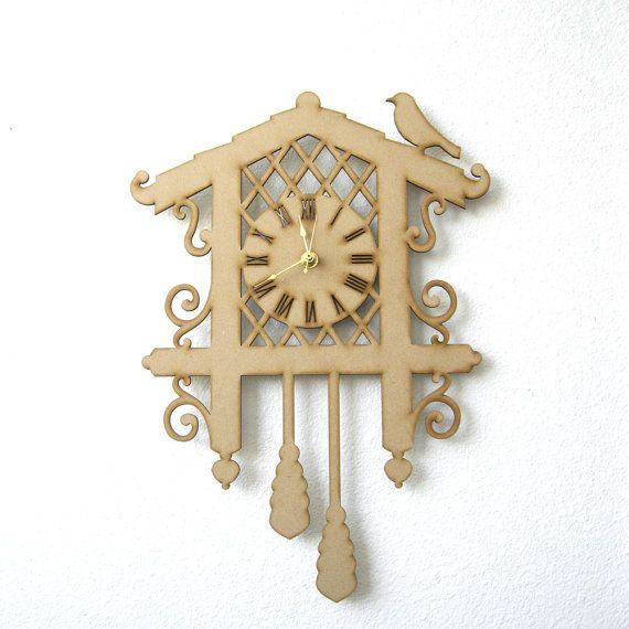 DIY Cuckoo Clock Kit  Unfinished Wood MDF Laser Cut Out by seequin, $28.00
