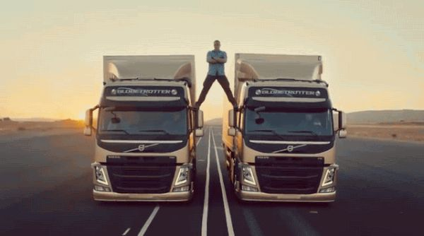 """AND THEN THIS HAPPENS AND IT'S LIKE, """"HOW IS THIS POSSIBLE?""""   The 6 Stages Of Watching Jean Claude Van Damme's Volvo Commercial - more like Van DAYUM! And it's legit!"""