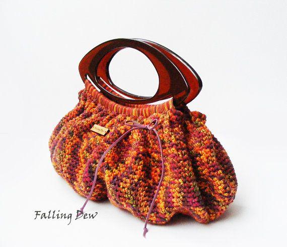 Small Purse Crochet Bag Crochet Purse Spring Bag by FallingDew, £37.00