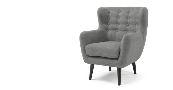 Mini Kubrick Armchair, Pearl Grey