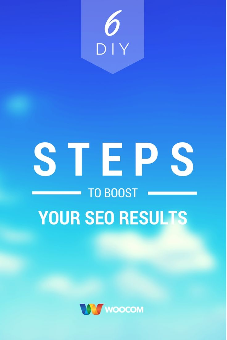 6 DIY Steps to Boost Your SEO Results  So you've heard of the term SEO and know what it is. More importantly you know that you need it for your website but the problem is how do you make it happen? Read more to find out what 6 practical steps you can take to improve your website's search engine ranking.