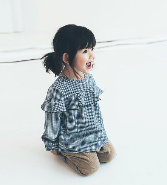 ZARA - KIDS - GINGHAM CHECK SHIRT WITH FRILL