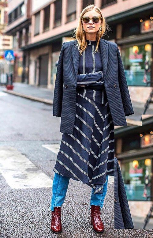 de4c6341328 Ideas de look con vestido sobre pantalones. Lo Mejor de Street Style. Si el  año pasado lo que veíamos más en la call…